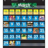 Scholastic Teaching, Black Monthly Calendar Pocket Chart (SC-583866)