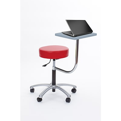 Brandt Laptop Adjustable Height Revolving Stool with 360 Degree Rotating Desk (14111 Fire)