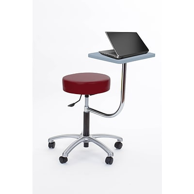 Brandt Laptop Adjustable Height Revolving Stool with 360 Degree Rotating Desk (14111 Raspberr)