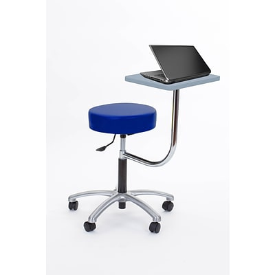 Brandt Laptop Adjustable Height Revolving Stool with 360 Degree Rotating Desk (14111 Spaceblu)