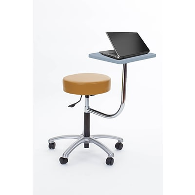 Brandt Laptop Adjustable Height Revolving Stool with 360 Degree Rotating Desk (14111 Tan)