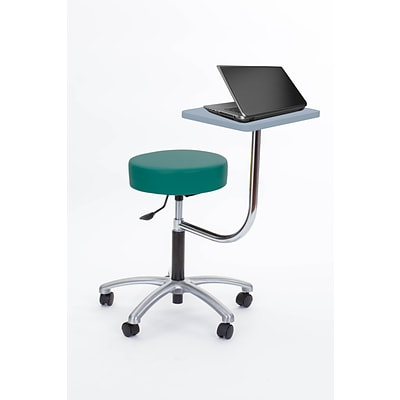 Brandt Laptop Adjustable Height Revolving Stool with 360 Degree Rotating Desk (14111 Teal)