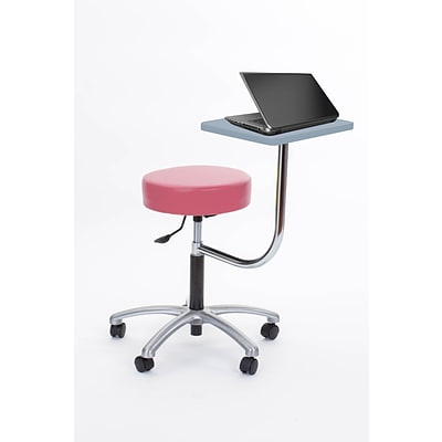 Brandt Laptop Adjustable Height Revolving Stool with 360 Degree Rotating Desk (14111 Tea Rose)