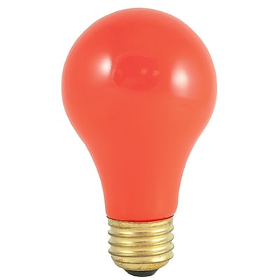 Bulbrite INC A19 60W Dimmable Party Bulb Ceramic Orange 12PK (106560)