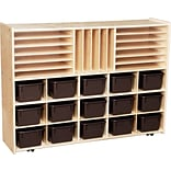 Contender™ 33.88H x 46.75W x 12D Multi-Storage on Casters with Brown Trays (C14002F-C5)
