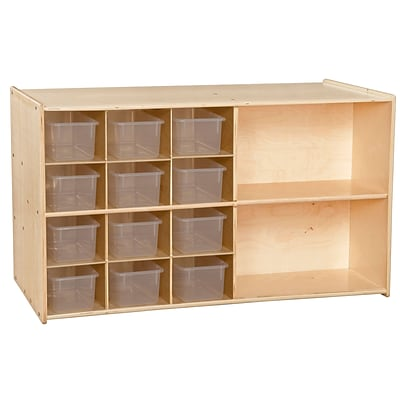Contender™ 27.25H x 46.75W x 24D Double Storage with Twelve Translucent Trays (C16601F)