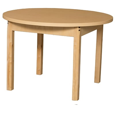 Wood Designs HPL Tables 36 Round Table 16H Hardwood Legs (HPL36RND16)