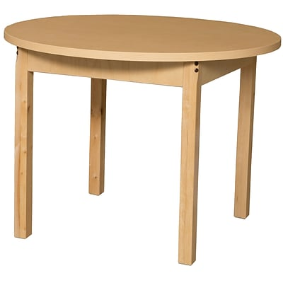Wood Designs HPL Tables 36 Round Table 26H Hardwood Legs (HPL36RND26)