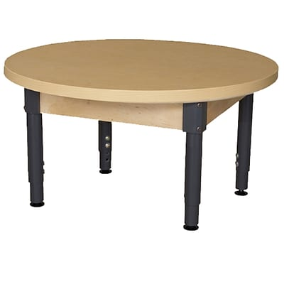 Wood Designs HPL Tables 36 Round Table 12-17H Adjustable Legs (HPL36RNDA1217)