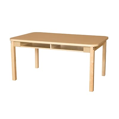 Wood Designs HPL Desks 18D x 48W Rectangle Desk 20 H Hardwood Legs (HPL1848DSK20)