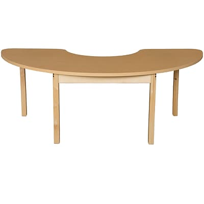 Wood Designs HPL Tables 22D x 64W Half Circle Table 26H Hardwood Legs (HPL2264HCRC26)
