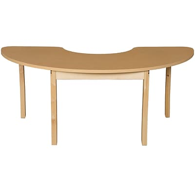 Wood Designs HPL Tables 22D x 64W Half Circle Table 29H Hardwood Legs (HPL2264HCRC29)