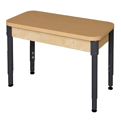 Wood Designs HPL Tables 24D x 36W Rectangle Table 18-29H Adjustable Legs (HPL2436A1829)