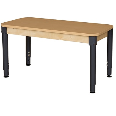 Wood Designs HPL Tables 24D x 48W Rectangle Table 18-29H Adjustable Legs (HPL2448A1829)