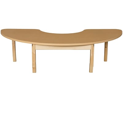 Wood Designs HPL Tables 24D x 76W Half Circle Table 14H Hardwood Legs (HPL2476HCRC14)