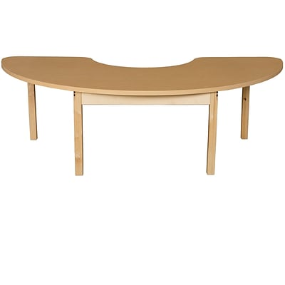 Wood Designs HPL Tables 24D x 76W Half Circle Table 16H Hardwood Legs (HPL2476HCRC16)
