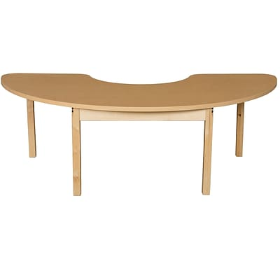 Wood Designs HPL Tables 24D x 76W Half Circle Table 20H Hardwood Legs (HPL2476HCRC20)