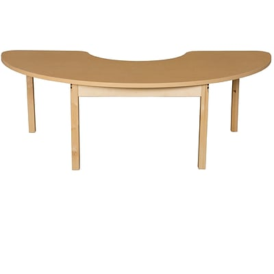 Wood Designs HPL Tables 24D x 76W Half Circle Table 24H Hardwood Legs (HPL2476HCRC24)