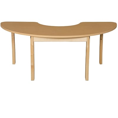 Wood Designs HPL Tables 24D x 76W Half Circle Table 29H Hardwood Legs (HPL2476HCRC29)