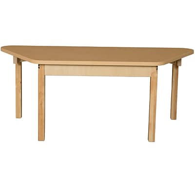 Wood Designs HPL Tables 30D x 60W Trapezoid Table 18H Hardwood Legs (HPL3060TRPZ18)