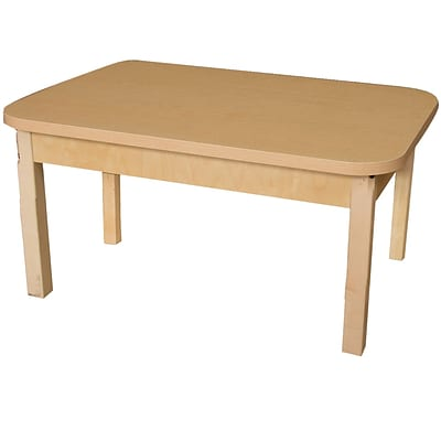 Wood Designs HPL Tables 24D x 48W Rectangle Table 14H Hardwood Legs (HPL244814)
