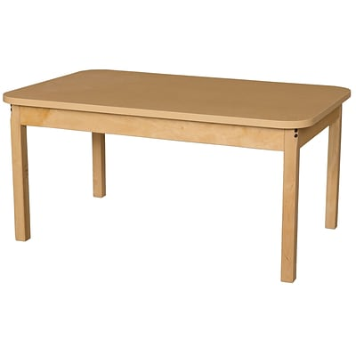 Wood Designs HPL Tables 30D x 48W Rectangle Table 24H Hardwood Legs (HPL304824)
