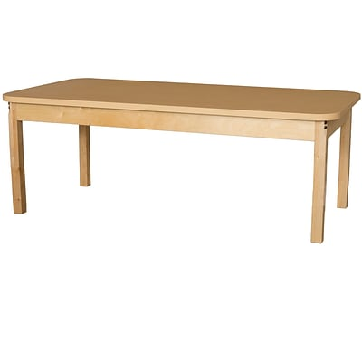 Wood Designs HPL Tables 30D x 60W Rectangle Table 14H Hardwood Legs (HPL306014)