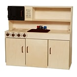 Wood Designs 40H x 40W x 15D All-In-One Kitchen with Brown Accents (10800BN)