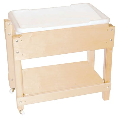 Wood Designs 24H x 28W x 15D Mobile Petite Sand and Water Table with Lid/Shelf (11811)