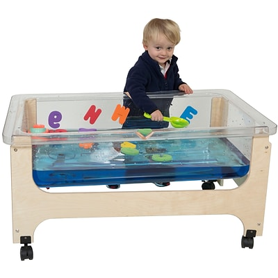 Wood Designs 20H x 27W x 41D Mobile Deluxe Tot Size Sand and Water Table without Lid(11876)