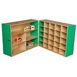 Wood Designs 38H x 48W x 30D Mobile Half & Half Storage Without Trays (23639G)
