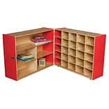 Wood Designs 38H x 48W x 30D Mobile Half & Half Storage Without Trays (23639R)