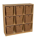 Wood Designs 49H x 48W x 15D Big Cubby Storage with 9 Baskets (50900-720)