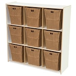 Wood Designs 49H x 48W x 15D Big Cubby White Storage with 9 Baskets (50900WHT-720)