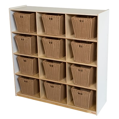Wood Designs 49H x 48W x 15D Big Cubby White Storage with 12 Baskets (50912WHT-719)