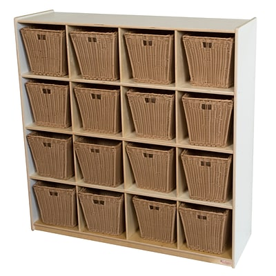 Wood Designs 49H x 48W x 15D Big Cubby White Storage with 16 Baskets (50916WHT-719)