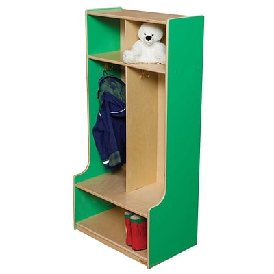 Wood Designs 49H x 24W x 11-15D Two Section Seat Locker (52400G)