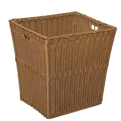 Wood Designs Large Size-14.5H x 12W x 13.5D Plastic Wicker Basket  Set of 4 (72004)