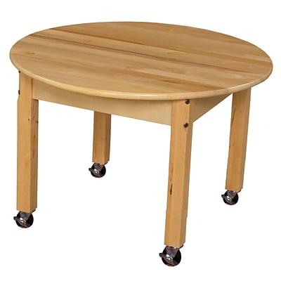 Wood Designs 30 Round Birch Hardwood Tables 16H Hardwood Legs (83016)
