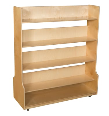 Wood Designs 58''h X 48''w X 17.5''d Mobile Book Processing Cart (95450)