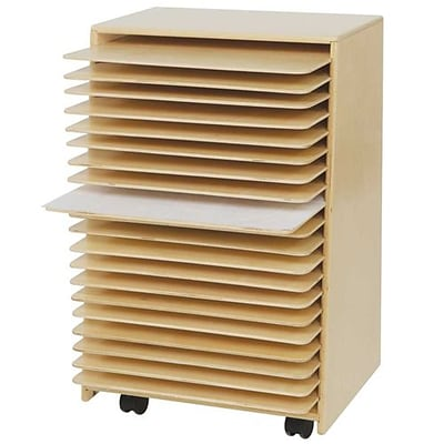 Wood Designs 30H x 20W x 15D Mobile Drying and Storage (99332)
