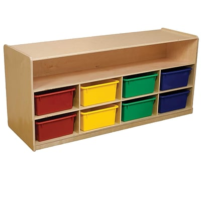 Wood Designs 22.5H x 48W x 15D Low Cubby Storage with Assorted Trays (99609AT)