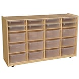 Wood Designs 30H x 48W x 15D Mobile Multi Bin Storage with Translucent Trays(990330CT)