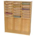 Wood Designs 59.5H x 48W x 15D Storage Shelf with Translucent Trays(990343CT)