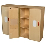 Wood Designs 36.75H x 49W x 15D Toddler Cubby Storage (990540)
