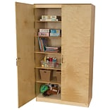 Wood Designs 84H x 47W x 24D Space Saving Resource Cabinet (990542)