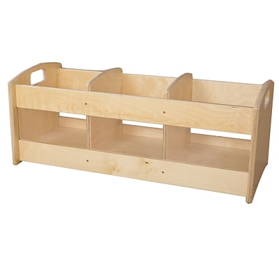 Wood Designs 12H x 36W x 13.5D Toddler Book Browser (990644)