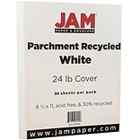 JAM Paper® Parchment Paper - 8.5 x 11 - 24lb White Recycled - 50/pack