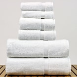 Chambray & Co. Carroll 6-Piece Turkish Cotton Towel Set; White