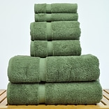Chambray & Co. Carroll 6-Piece Turkish Cotton Towel Set; Moss